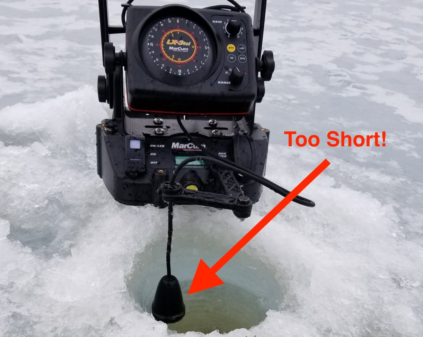 Don't set your transducer length too short