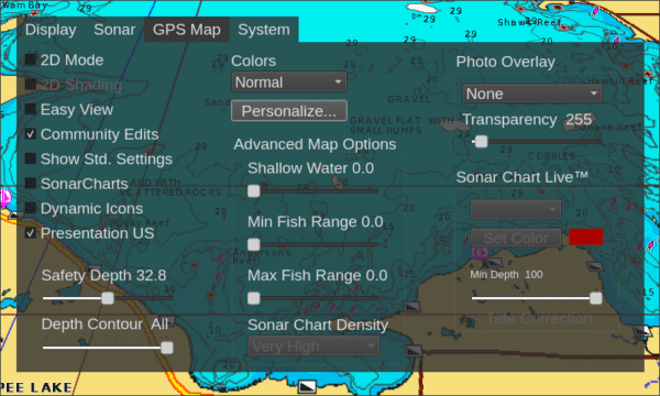 full 3D map with menu
