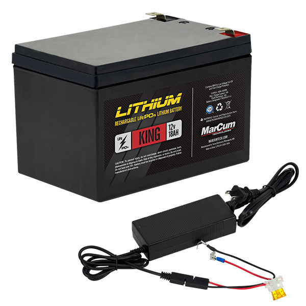 LP41218KIT_12v18amp LiFePO4 King Battery_ wire harness and charger