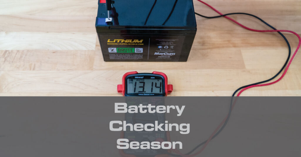 The first step in your pre-season routine should be checking your batteries. Most flasher failures on the ice are caused by a bad battery, so now's the time to inspect your MarCum's power source.